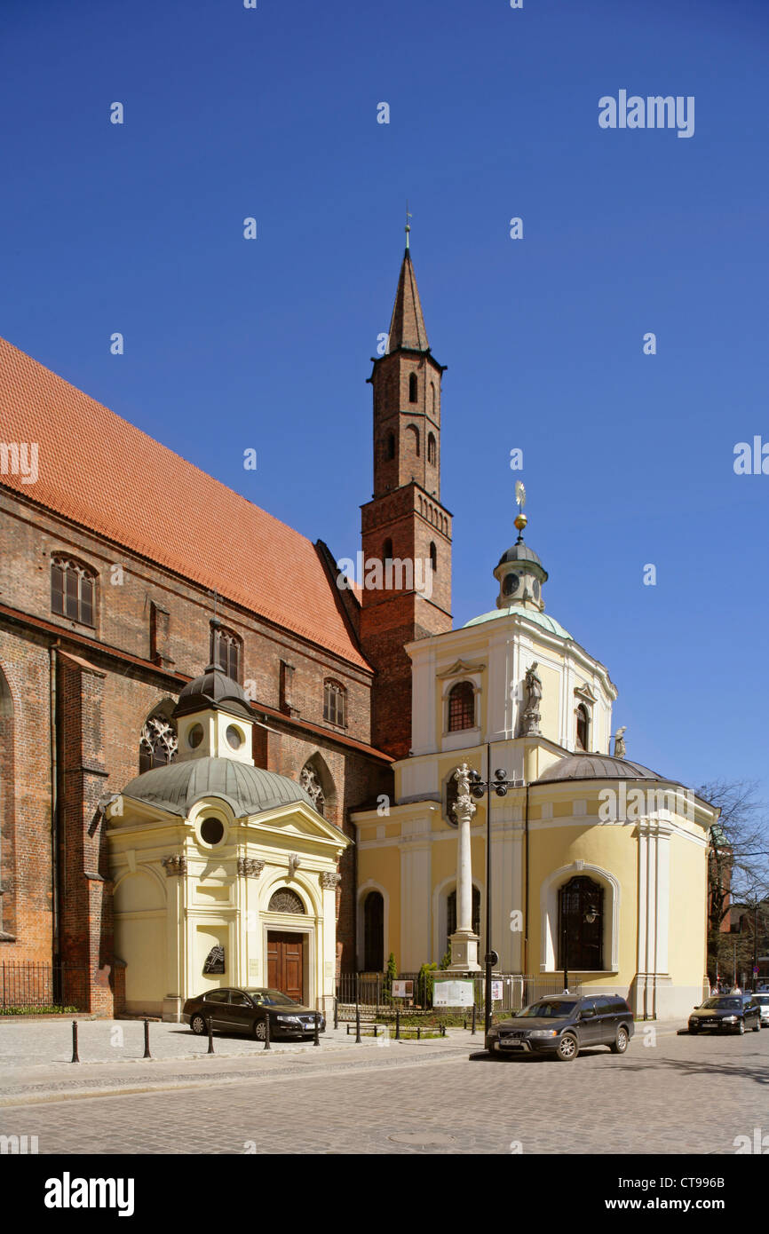 Church of St Vincent and St James, Wroclaw (Breslau), Poland. Stock Photo
