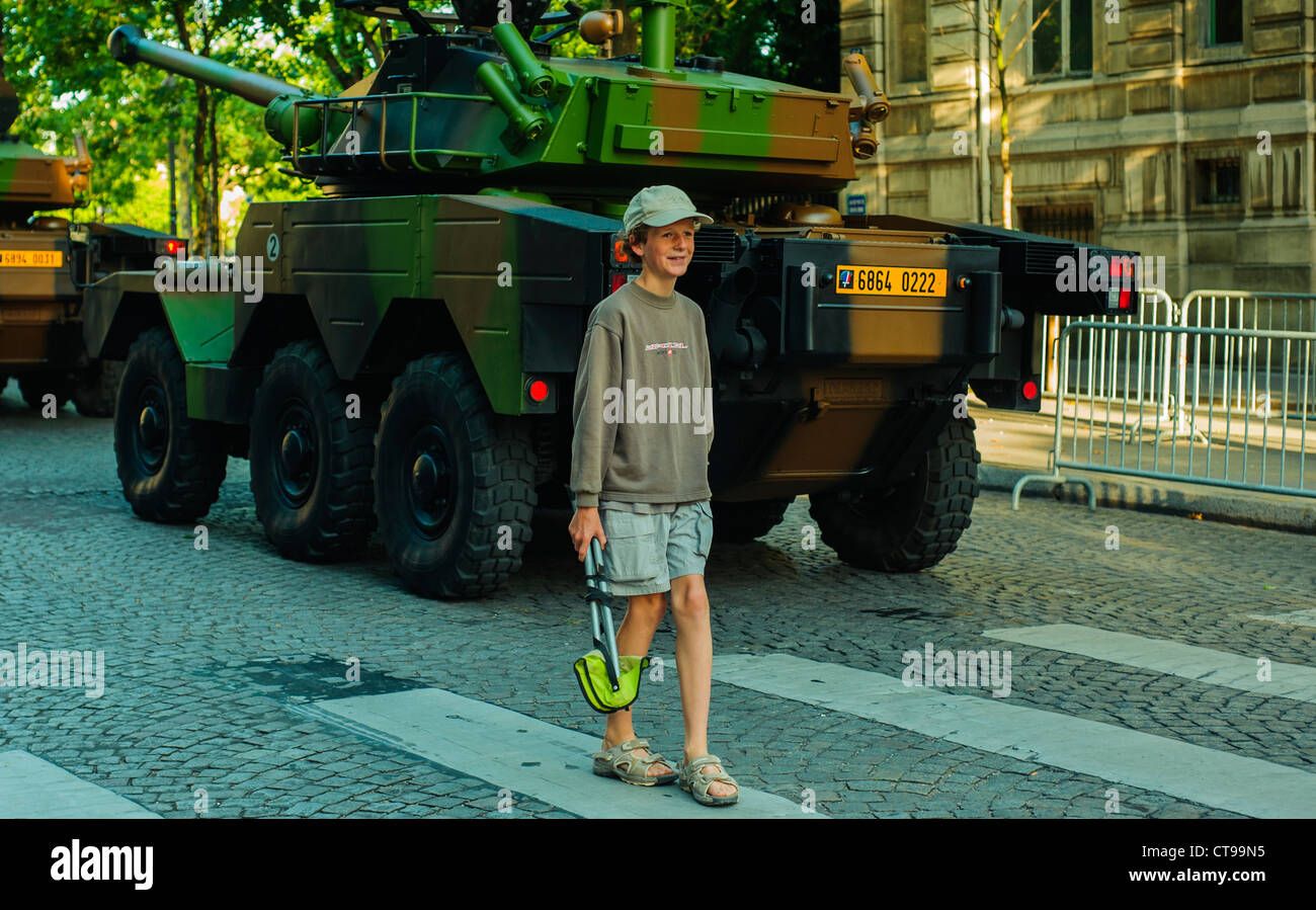 Paris, France, Public Events, 'Bastille Day' Celebration '14th of July' Military Parade, on the - Stock Image
