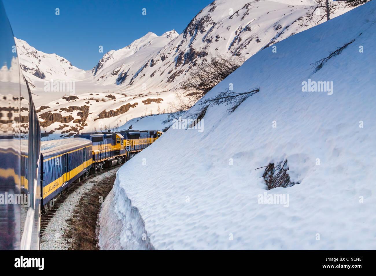 Alaska Railroad Coastal Classic Train Ride Between Seward And Anchorage Alaska Stock Photo Alamy