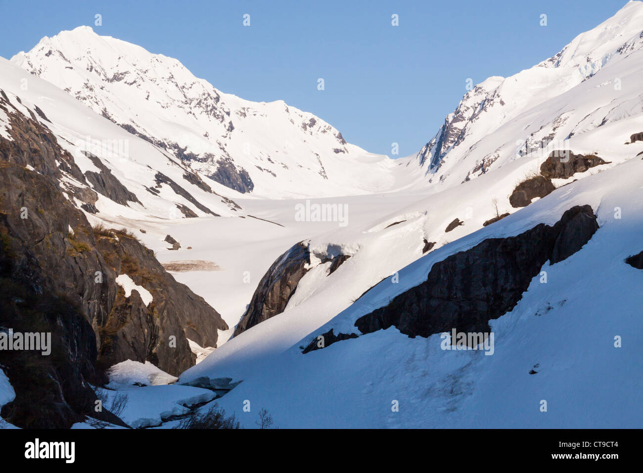 Bartlett Glacier in Alaska's Kenai Mountains - Stock Image