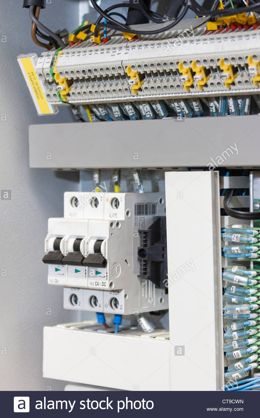 Electrical installation in connection box of industry machine Stock ...