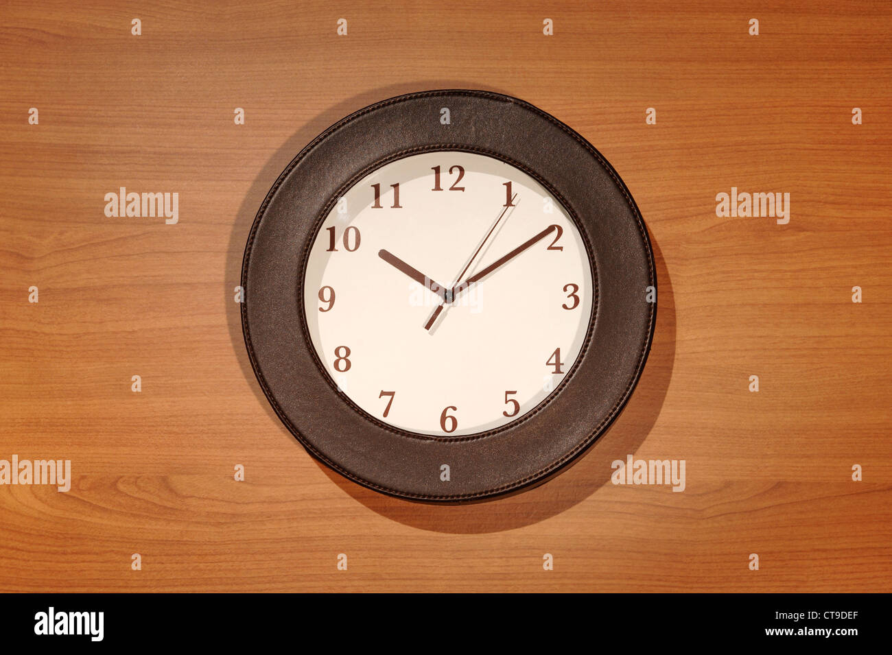 Brown clock - Stock Image