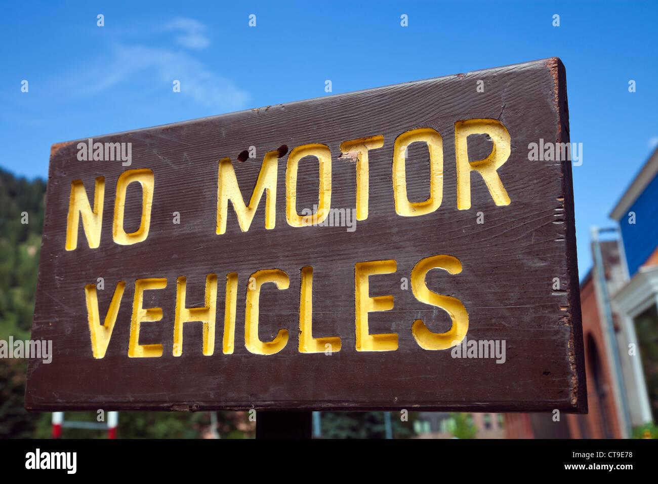 No motor vehicles - Stock Image