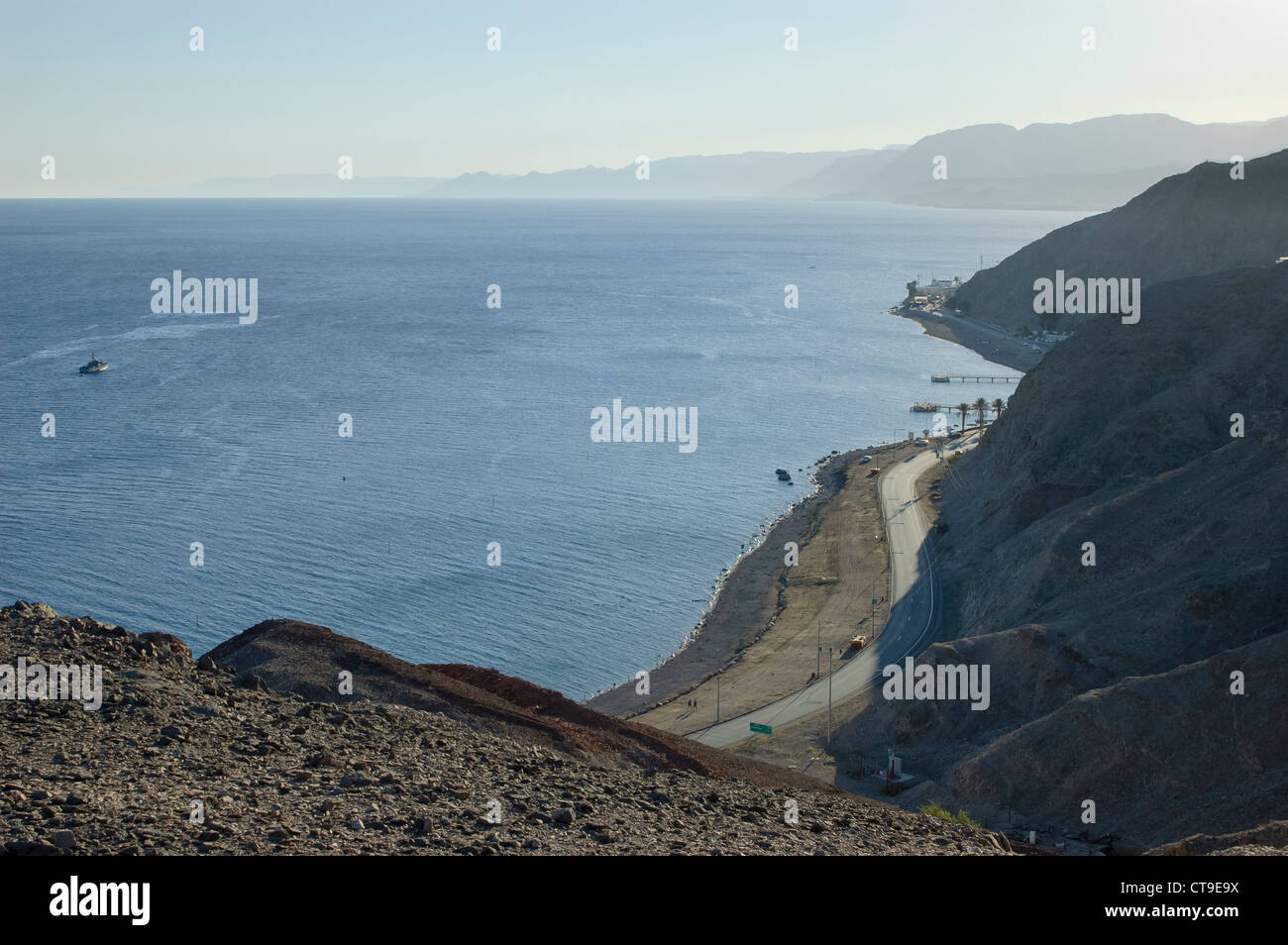 Taba border crossing from the Israeli side - Stock Image