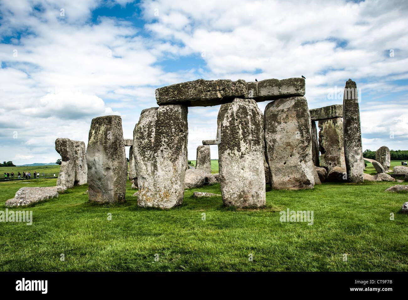 STONEHENGE, UK - LONDON, UK - Stonehenge Southwest Face. Believed to have been built somewhere between 2000 and Stock Photo