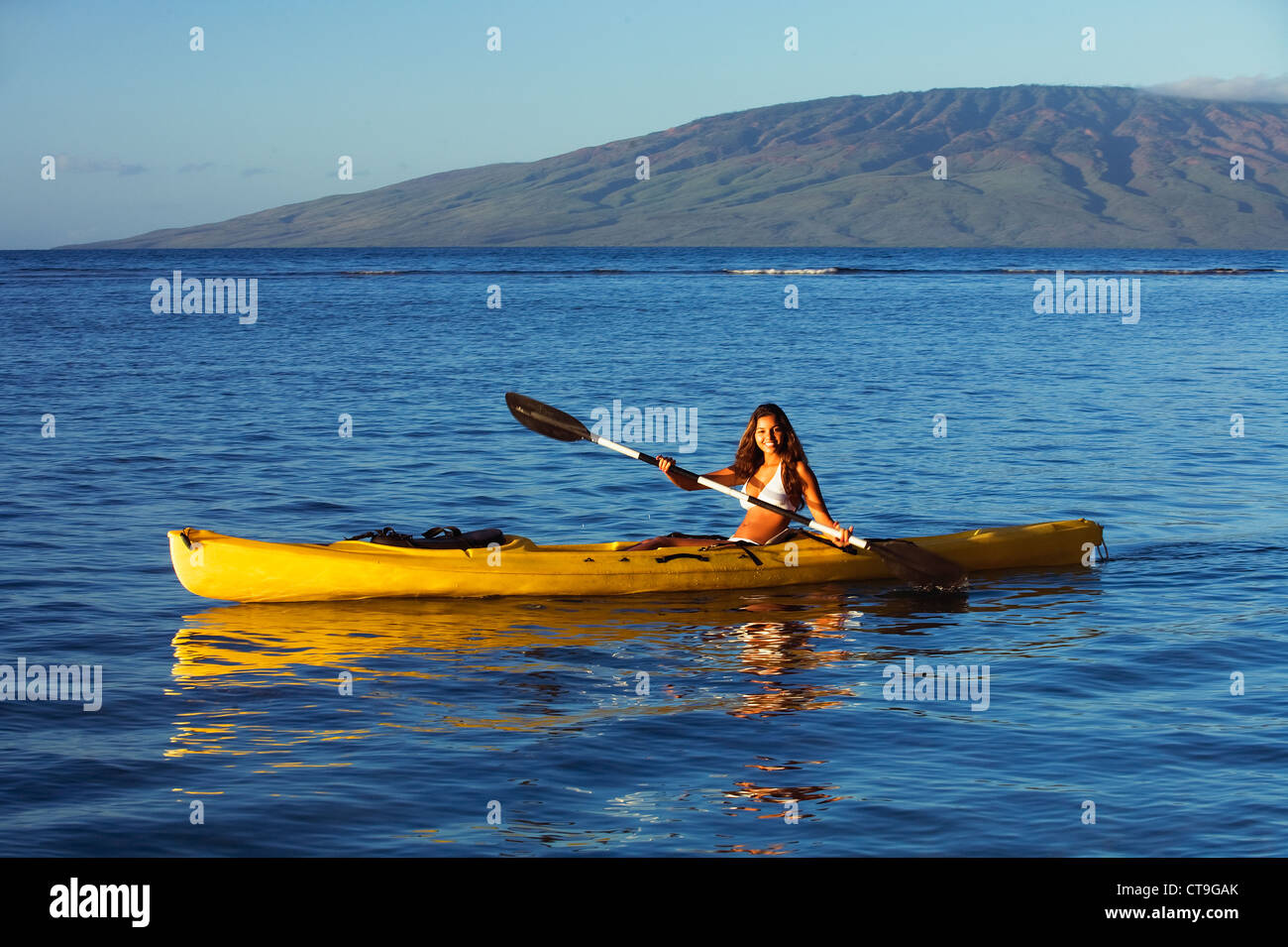 kayaking at lahaina, maui, hawaii stock photo: 49382891 - alamy