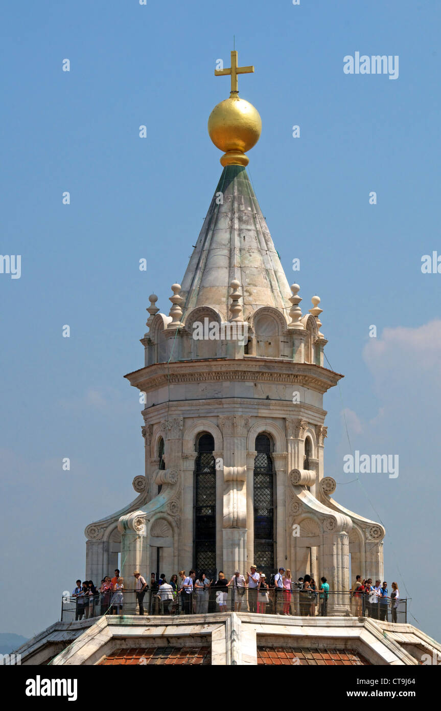 Cupola on top of dome Duomo Florence Italy Stock Photo