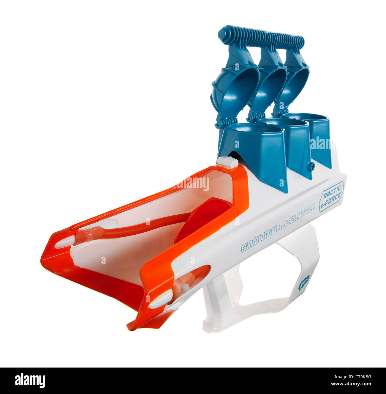 Snowball launcher or catapult gun - Stock Image