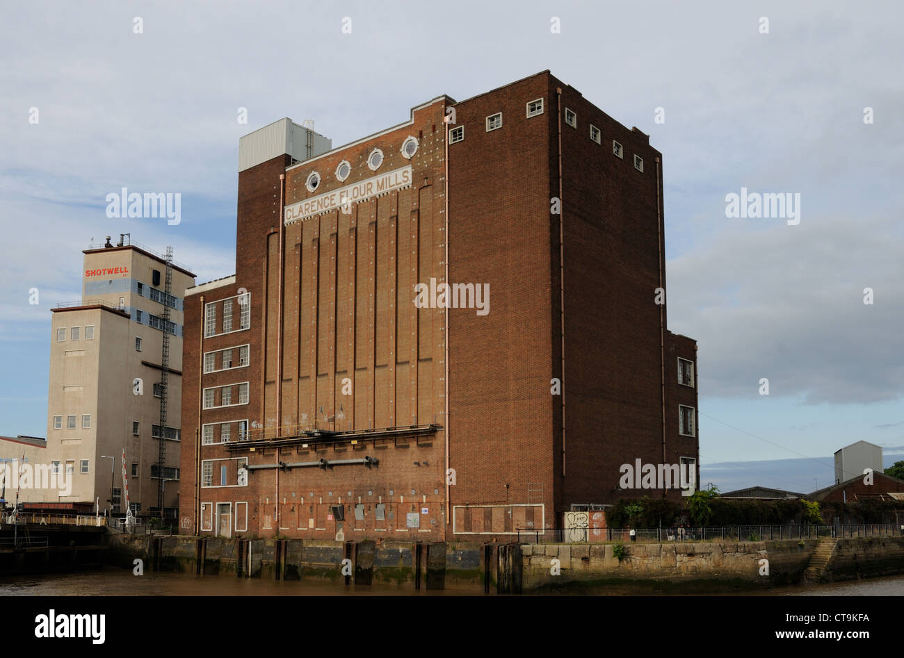 Clarence Flour Mills, Hull, East Yorkshire, England Stock Photo