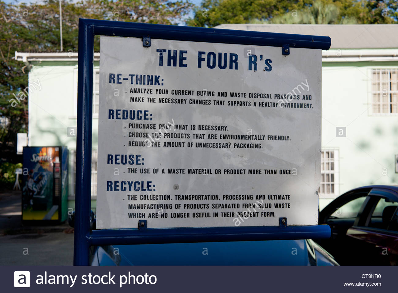 The Four R's Sign - Stock Image