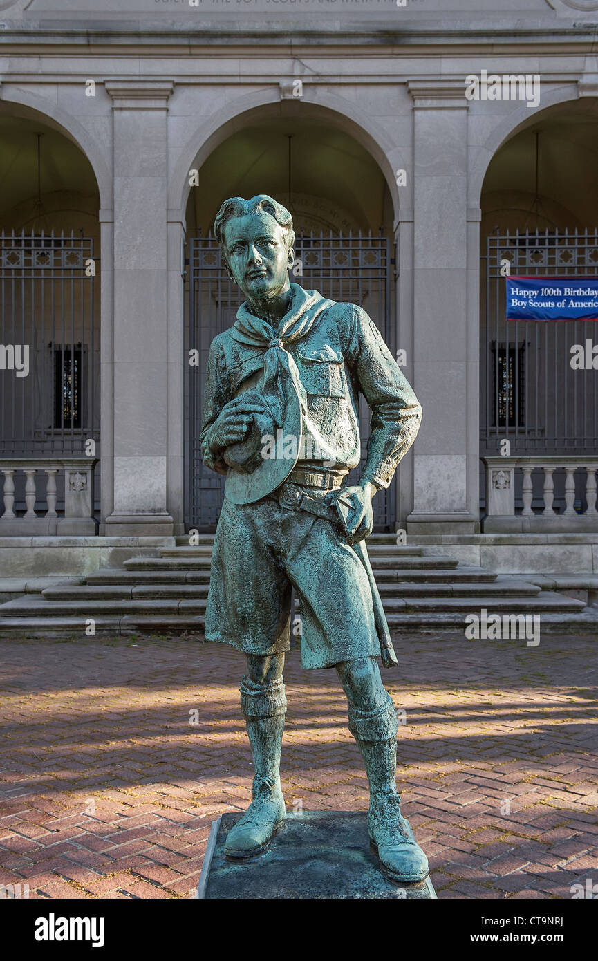 "The ""Ideal Scout"", sculpture by R. Tait McKenzie, Philadelphia, Pennsylvania, USA Stock Photo"