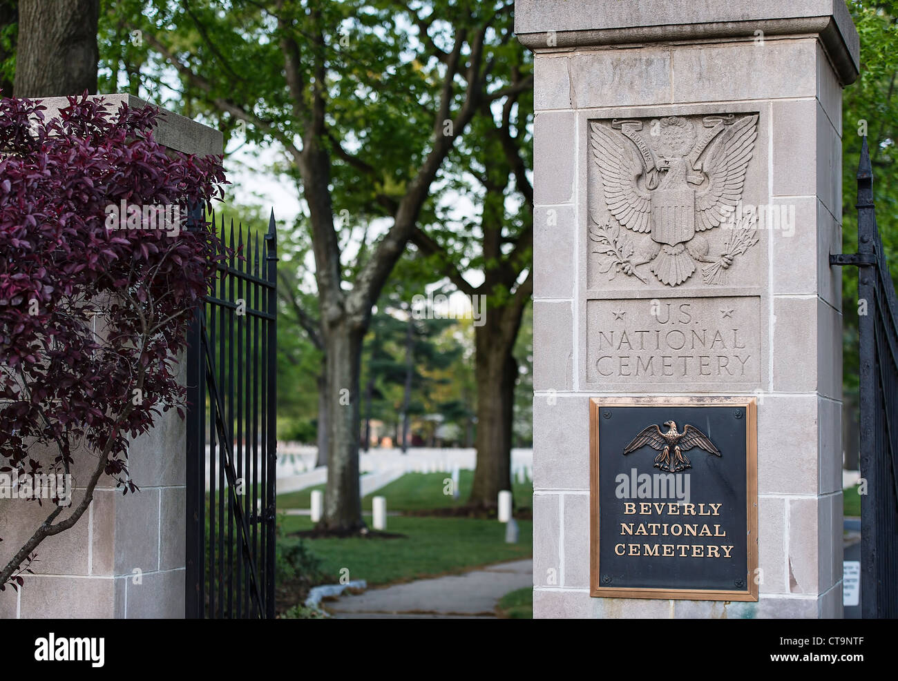 Beverly National Cemetery, Beverly, New Jersey - Stock Image