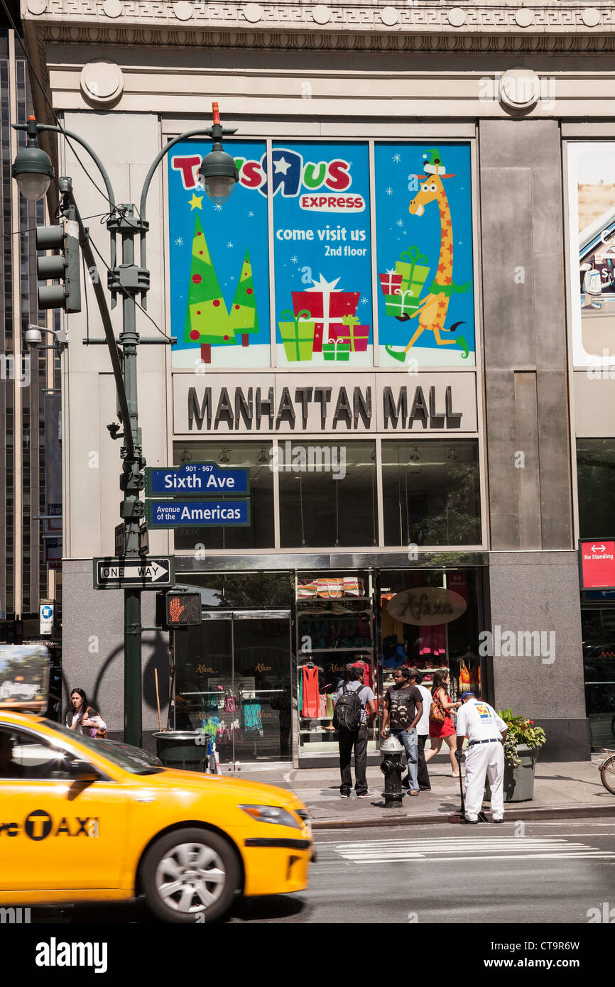 Manhattan Mall On Avenue Of The Americas NYC