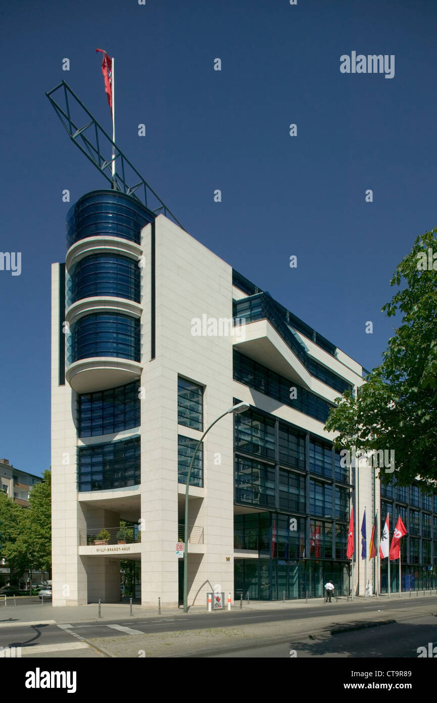 Berlin, Willy Brandt House, SPD party headquarters - Stock Image