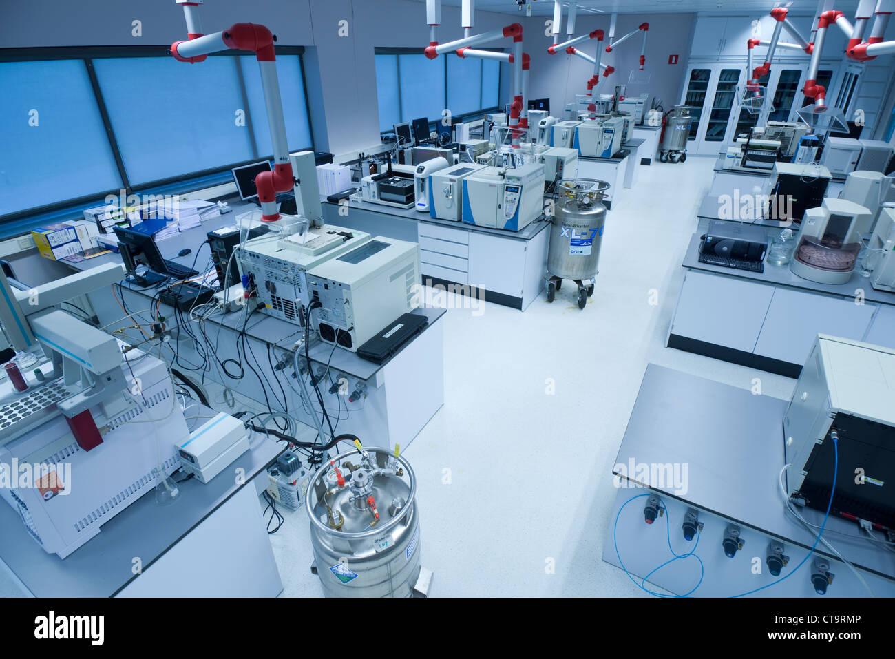 Organic chemistry laboratory. Stock Photo
