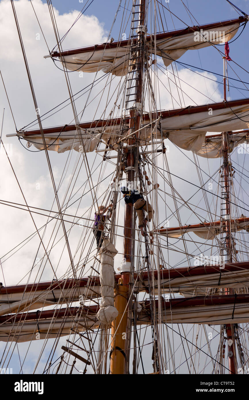 Tall ships race 1, St Malo, France 2012 - Stock Image