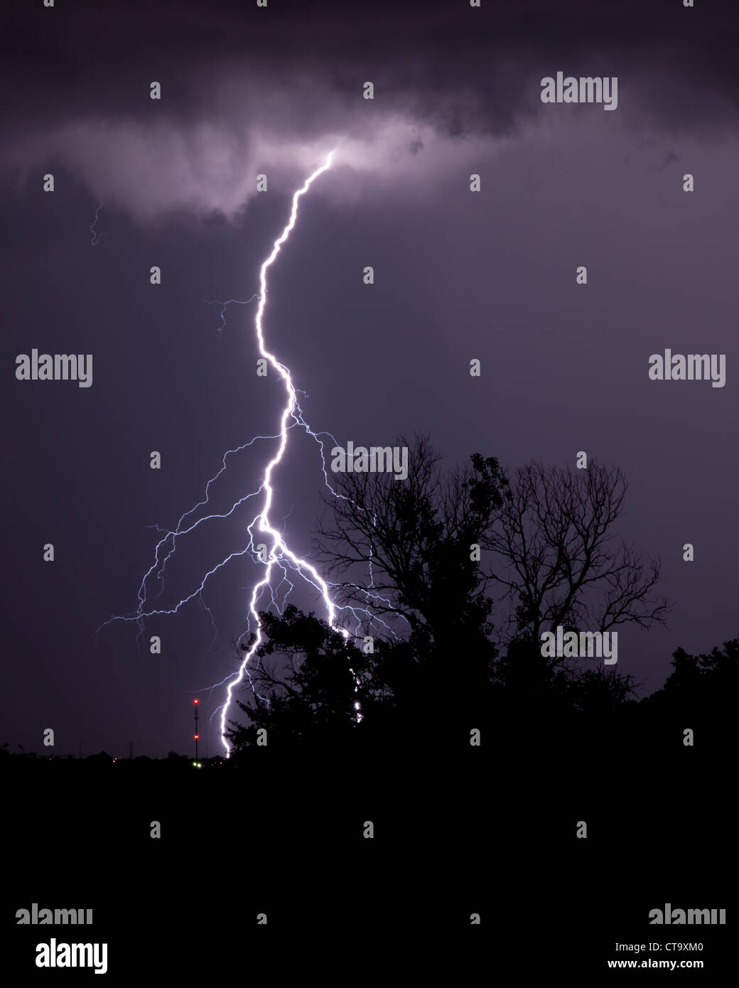 Lightning strike - Stock Image