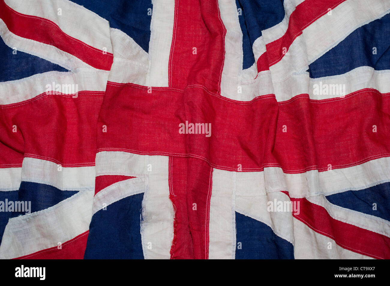 Vintage Union Jack Flag From Coronation Of Queen Elizabeth 2