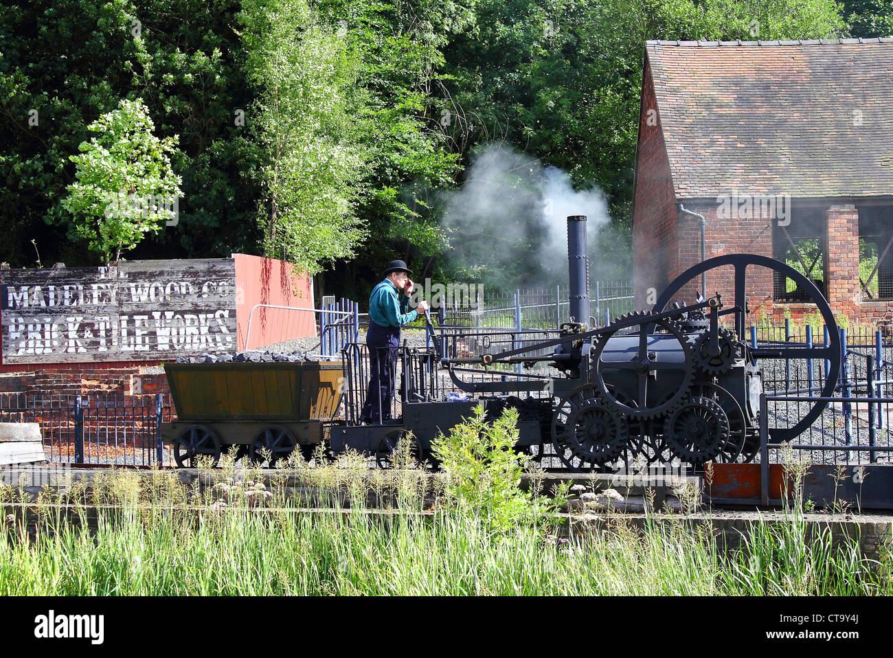 victorian steam engine - Stock Image