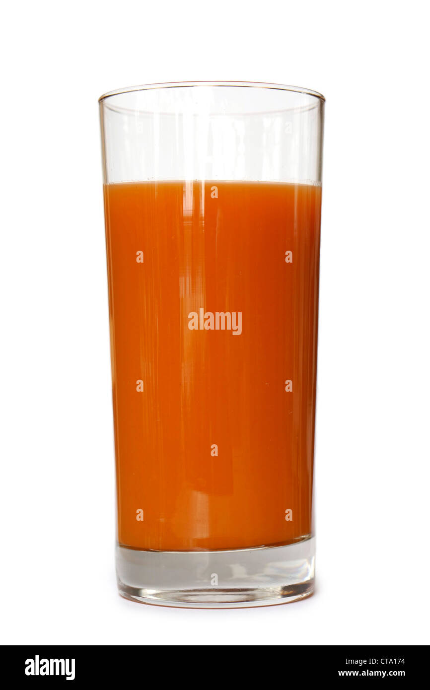 Glass of Carrot Juice - Stock Image