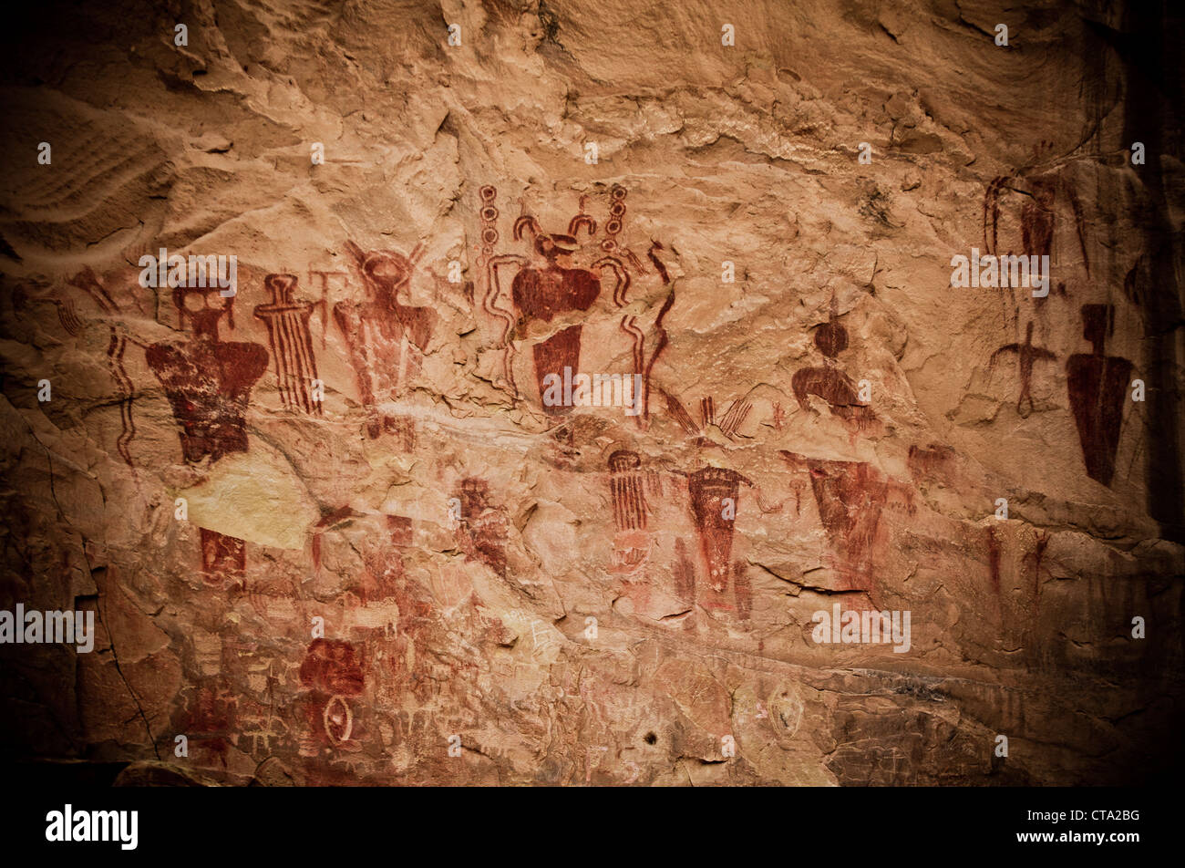 ancient native american (indian) petroglyph / hieroglyph stock photo