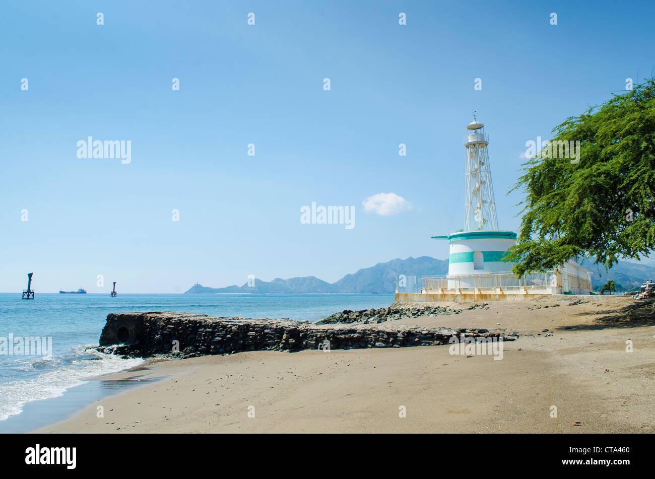 lighthouse in dili east timor, timor leste Stock Photo