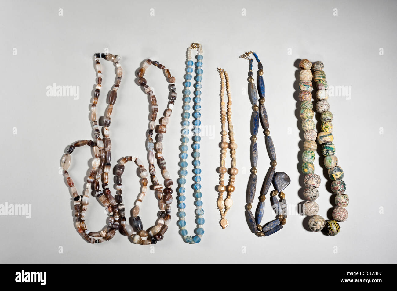 Hellenistic and Roman Bead necklaces - Stock Image