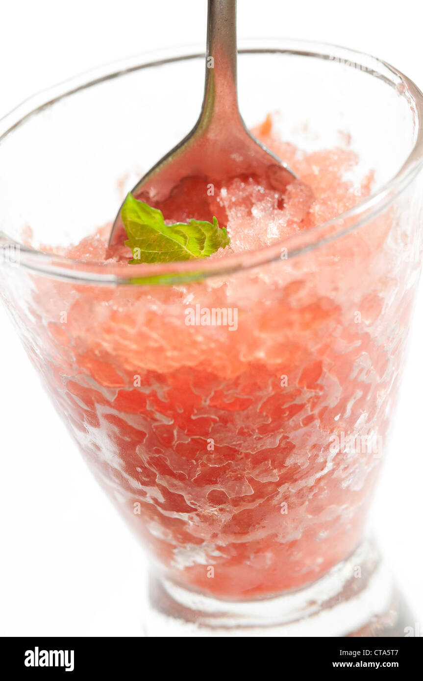 tequila and watermelon slush drink - Stock Image
