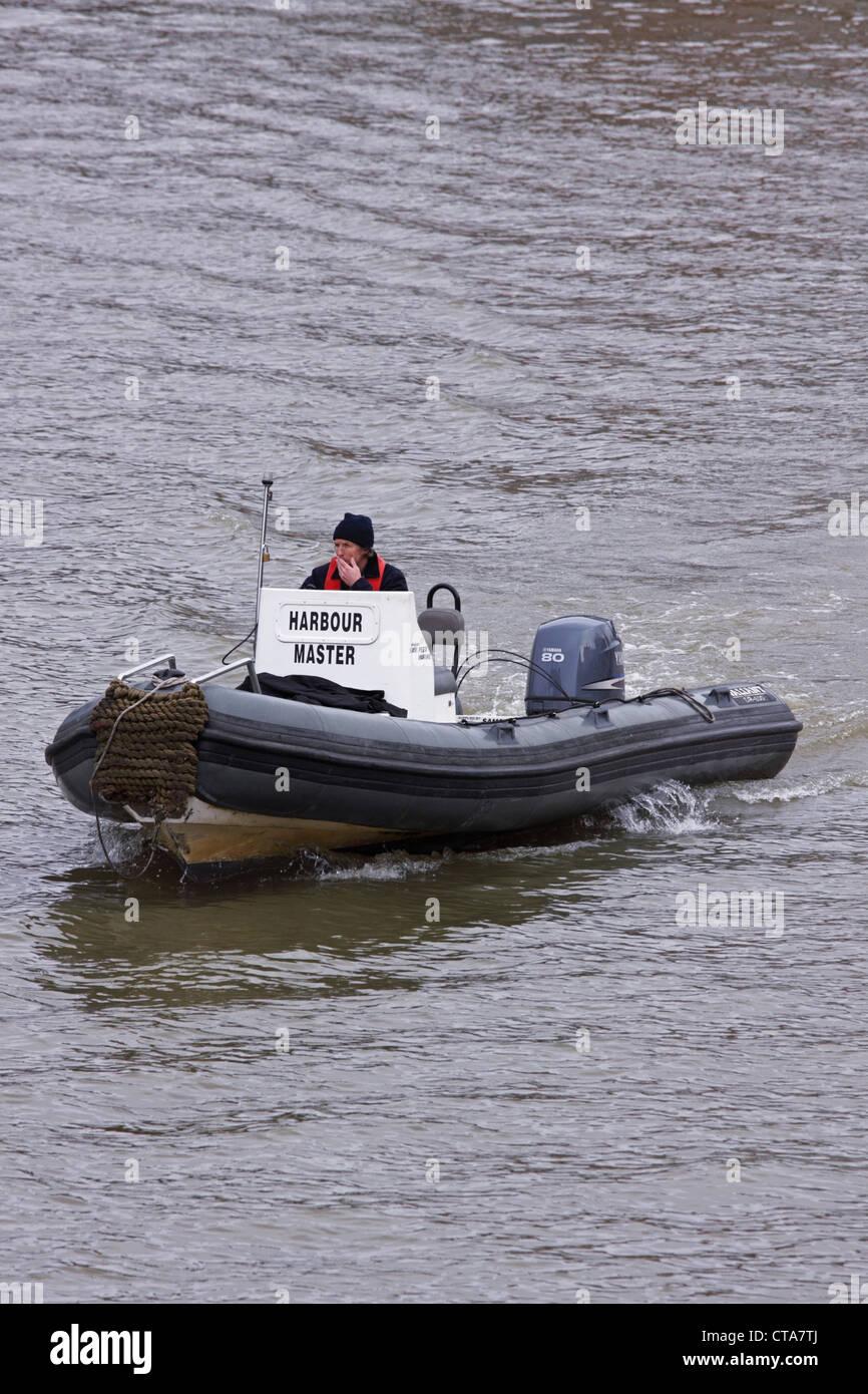Harbourmaster patrol in Bristol docks during the annual Harbour Festival UK - Stock Image