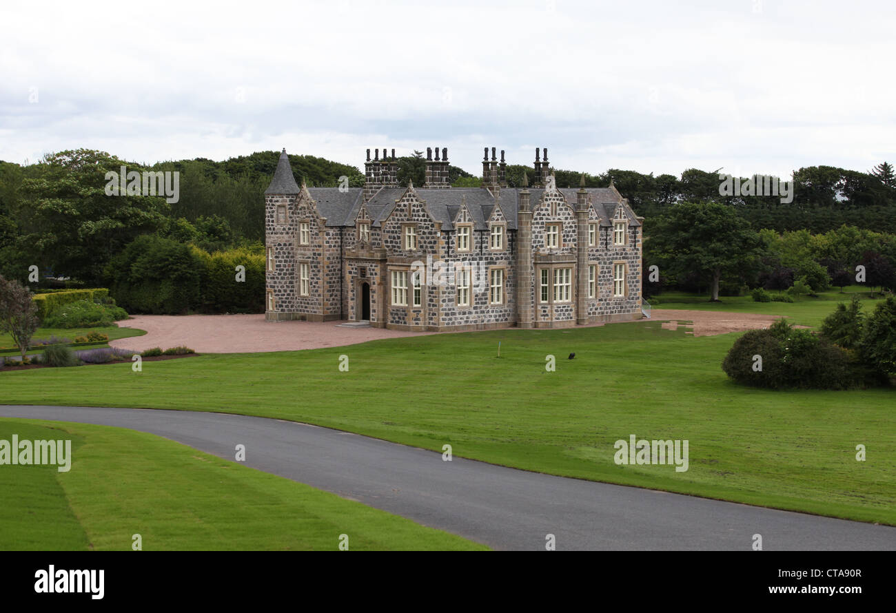 Macleod House at Trump International Golf Links course in Aberdeenshire, Scotland, UK. Owned by businessman Donald - Stock Image