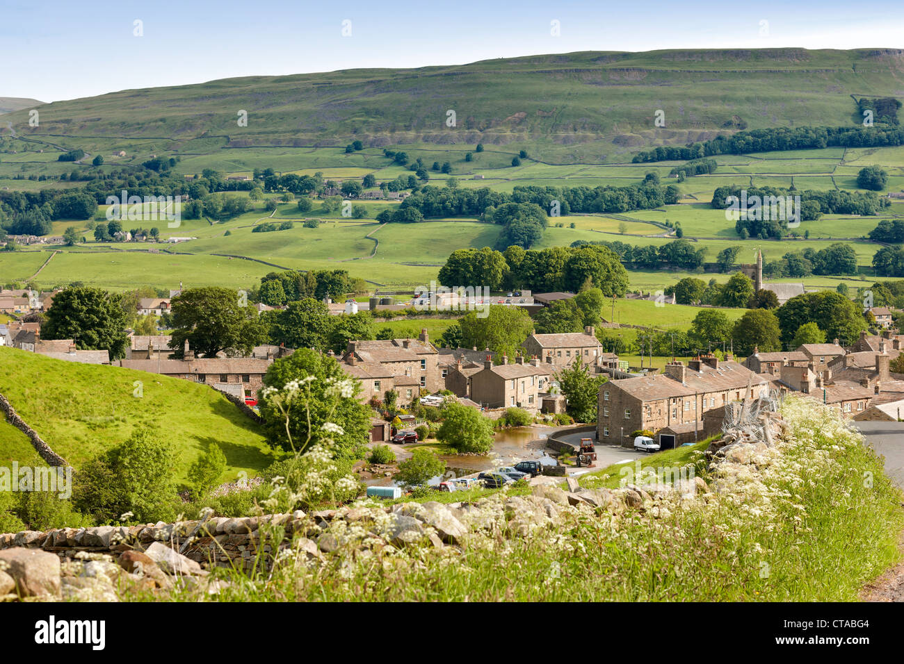 The village of Gayle in Wensleydale, Yorkshire Dales UK Stock Photo