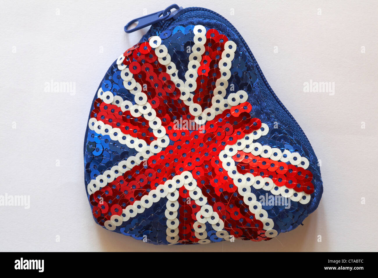 Red White And Blue Sequined Union Jack Purse Isolated On White