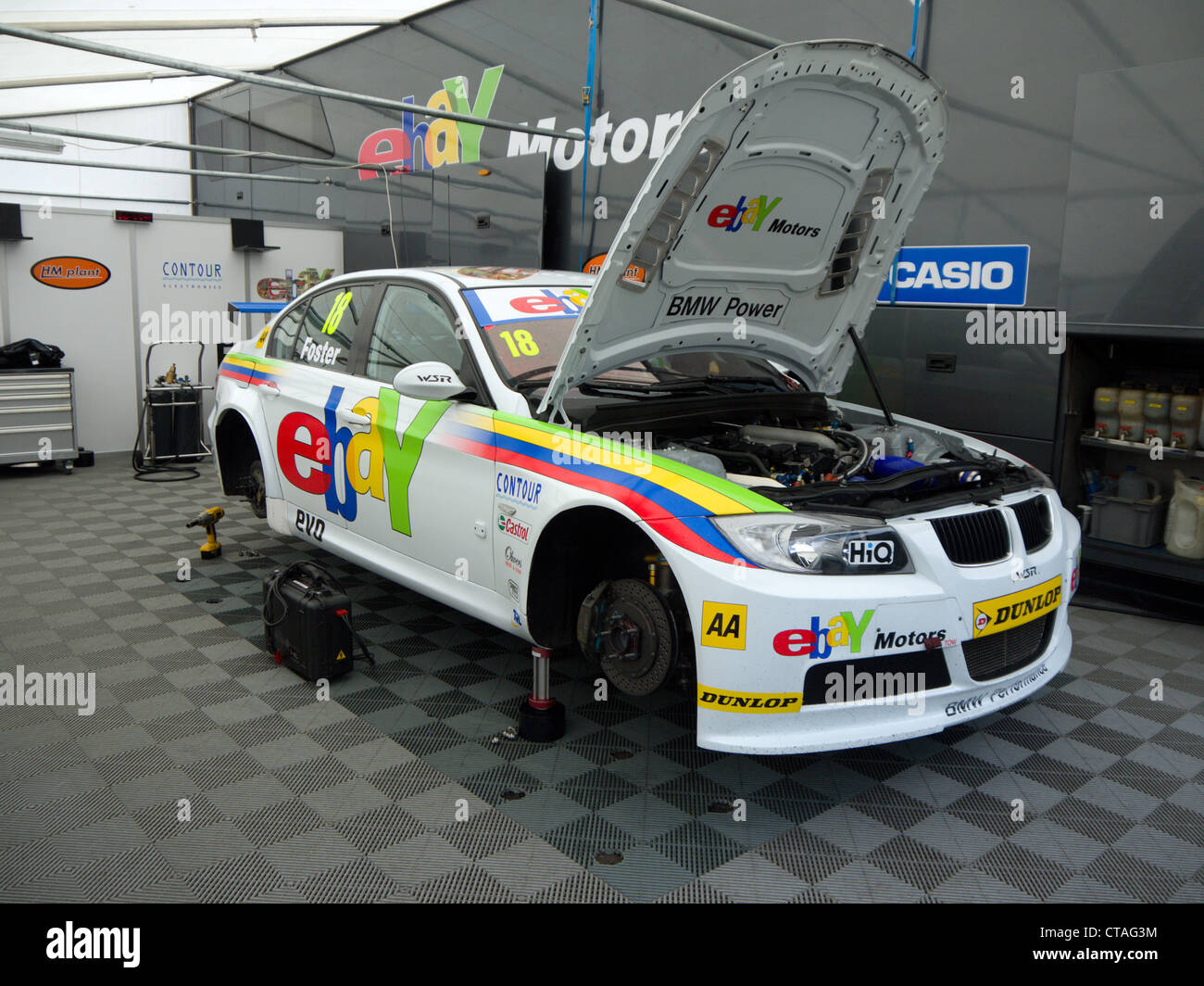 WSR, ebay motors BMW, British touring car Stock Photo: 49404648 - Alamy