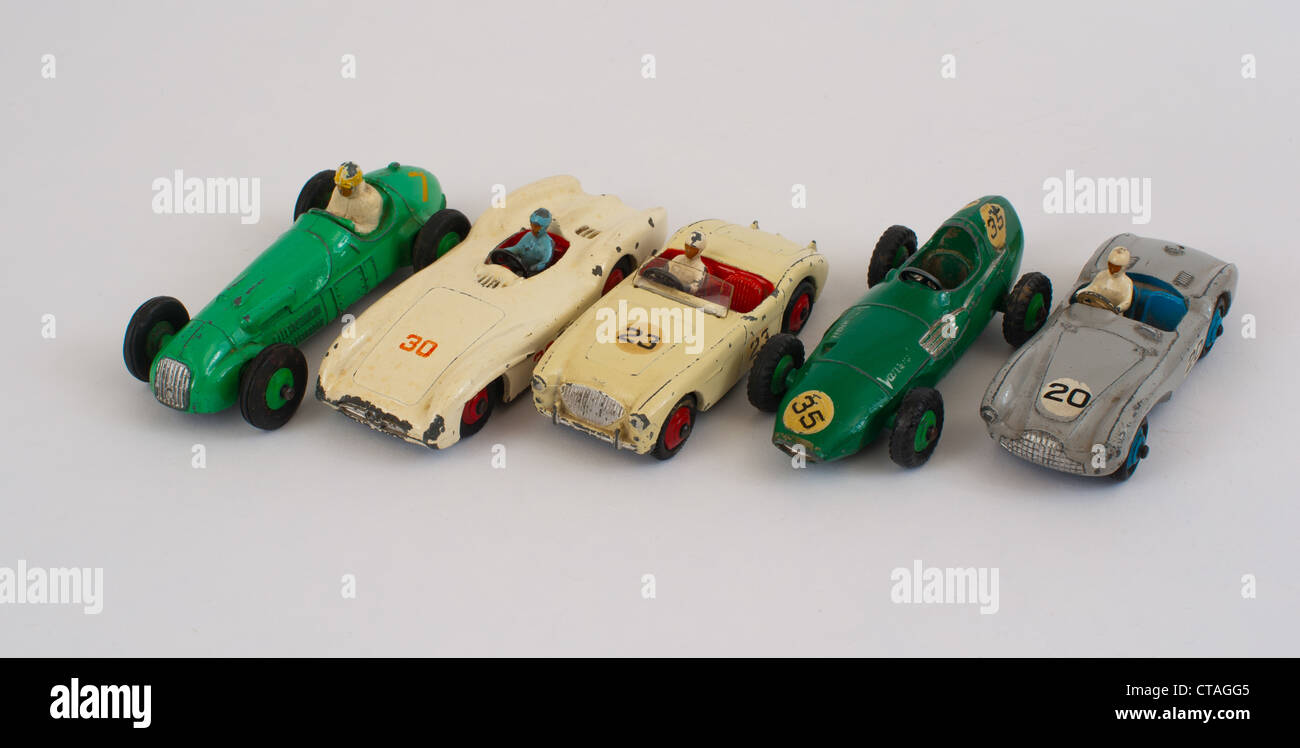 Collection of dinky toy racing cars Stock Photo