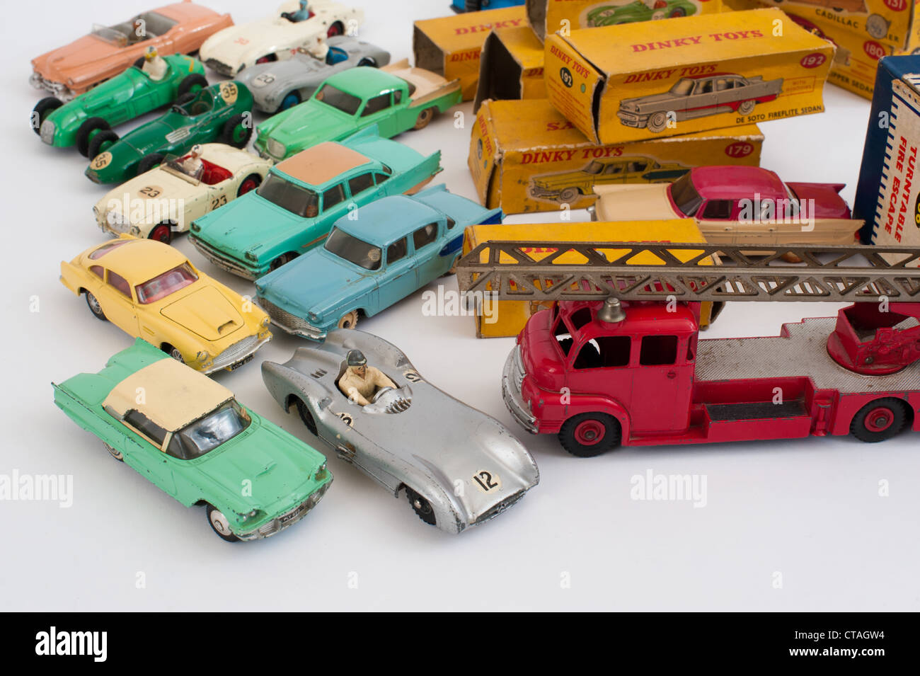 Collection of Dinky toys Stock Photo