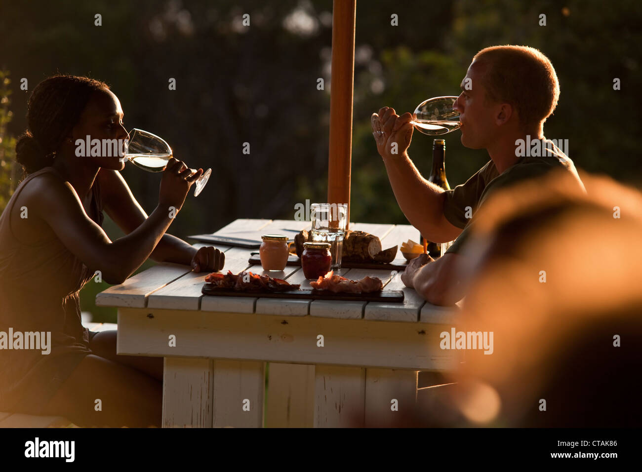 Restaurant Roundhouse, Camps Bay, Cape Town, Western Cape, South Africa, RSA, Africa - Stock Image