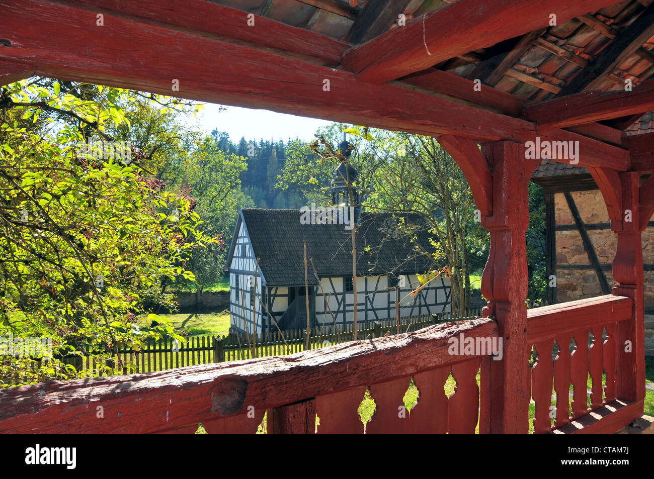 Open air museum Vessra Abbey, Thuringian Forest, Thuringia, Germany - Stock Image