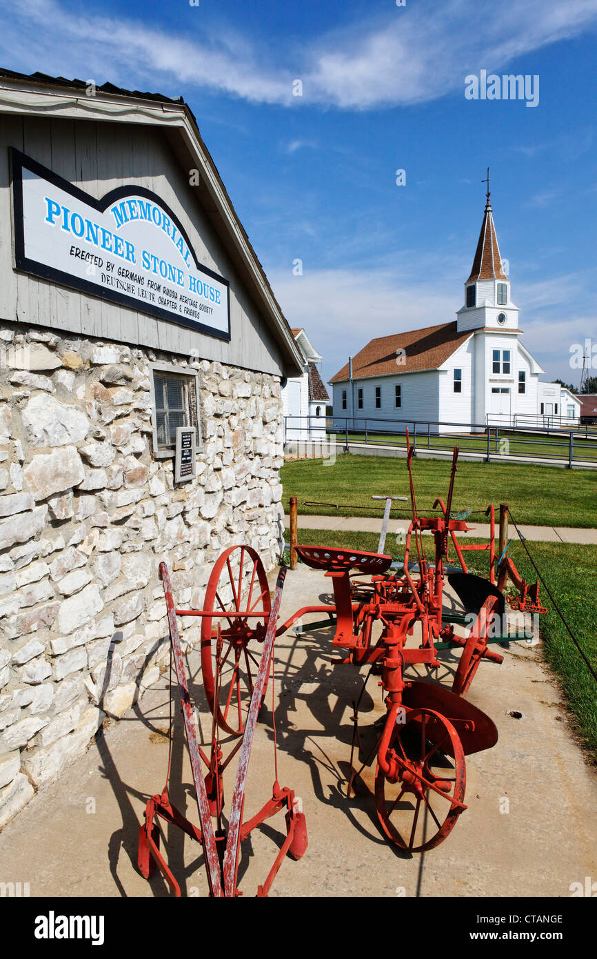 Open air heritage center, Dickinson, Stark County, North Dakota, USA - Stock Image