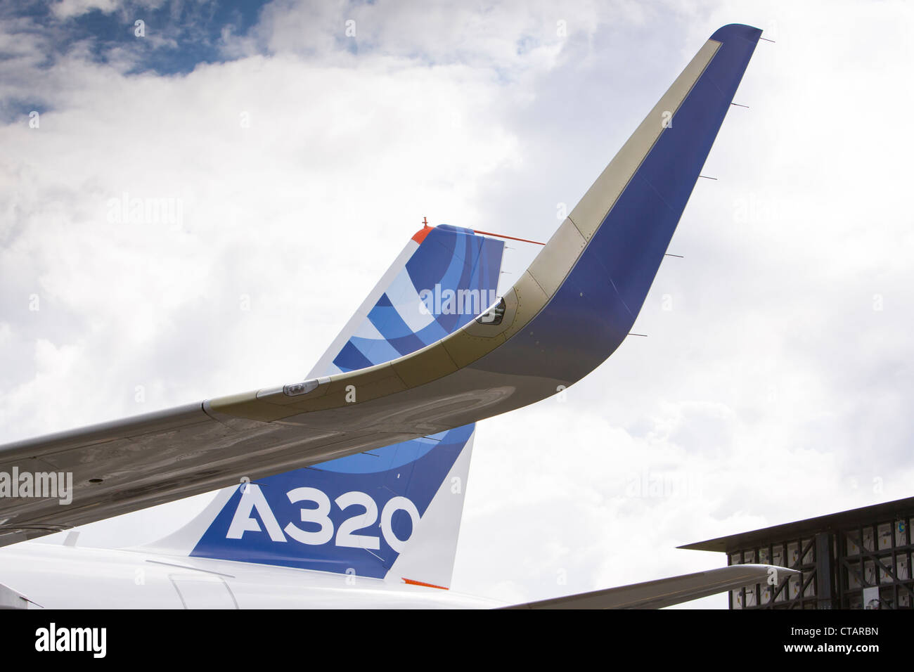 Airbus A320 sharklets Stock Photo