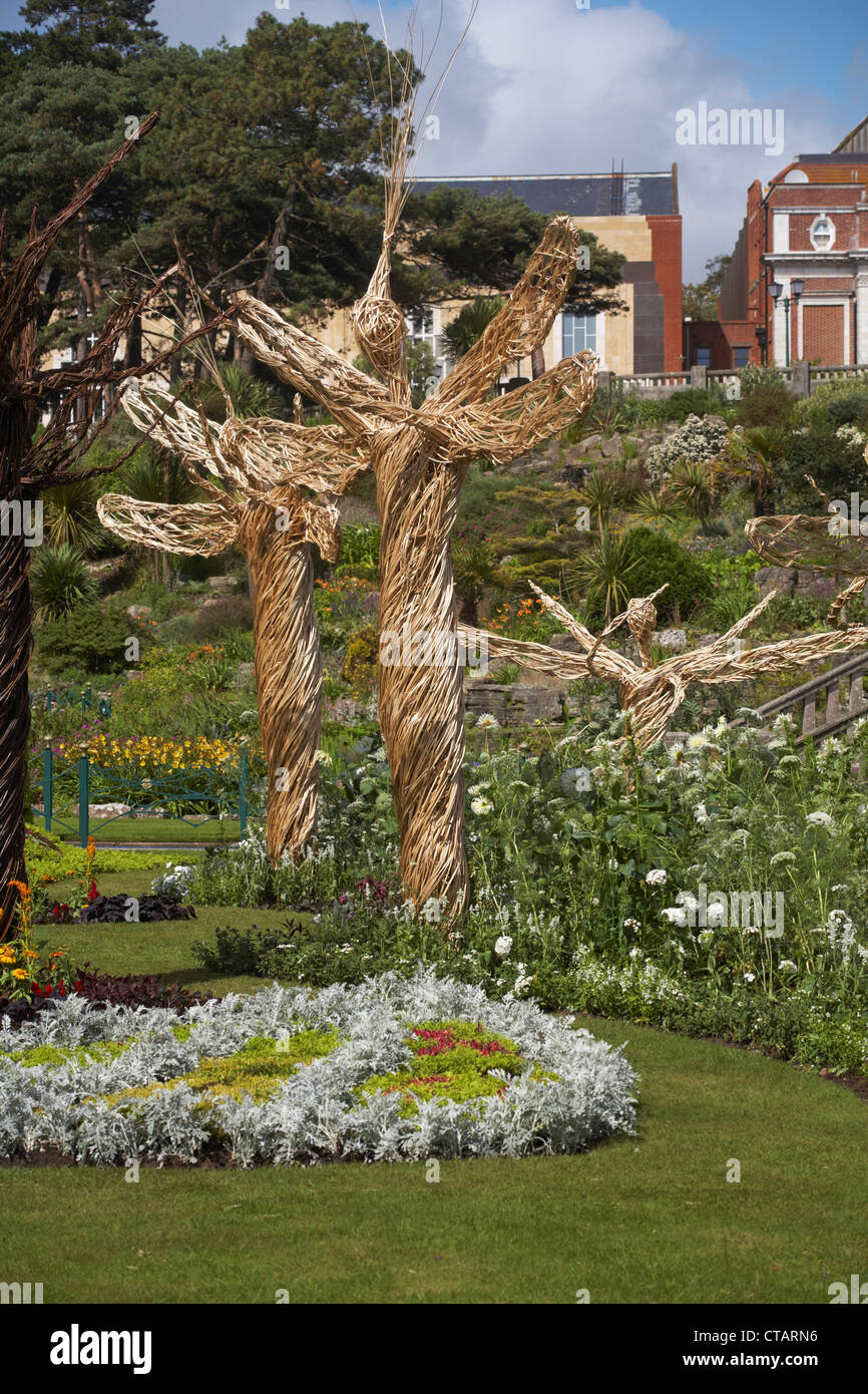 willow angels structures in Bournemouth lower Gardens in July Stock ...