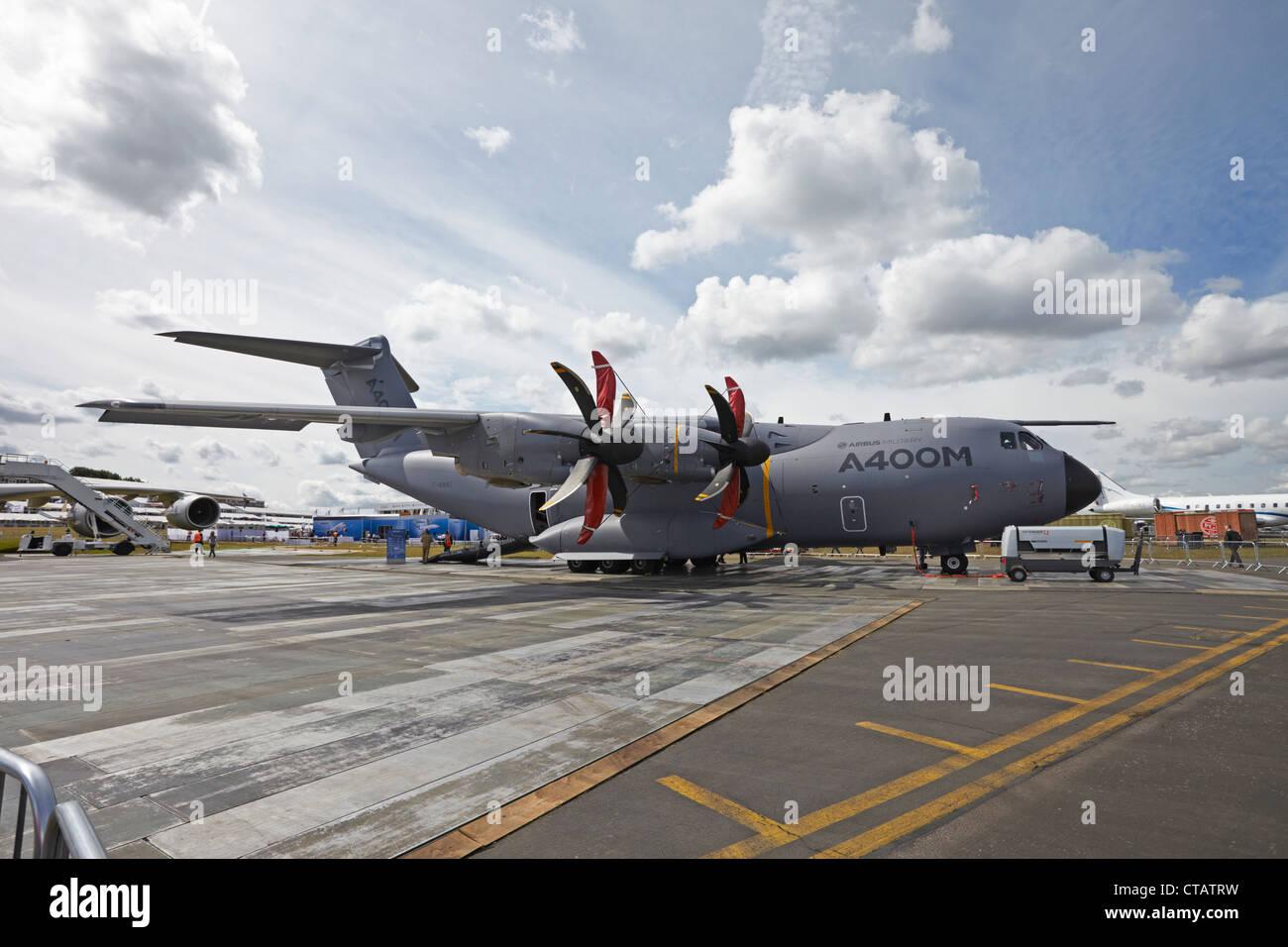 Farnborough International Airshow Airbus Military A400M EADS Atlas - Stock Image