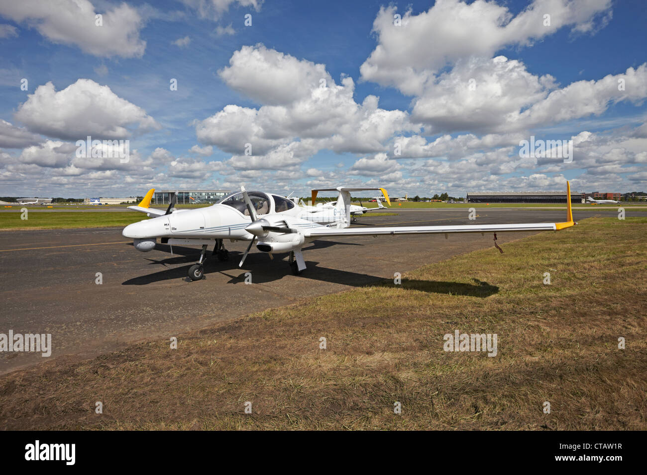 Farnborough International Airshow Diamond DA42 Twin Star - Stock Image