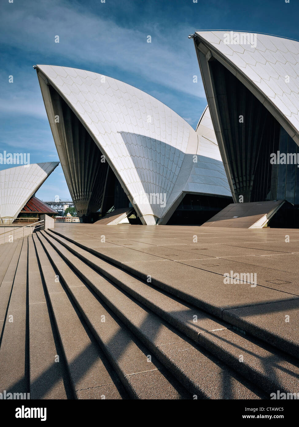Archway Sydney Opera House, architect Jorn Utzon, UNSCEO world herritage site, New South Wales, Australia - Stock Image