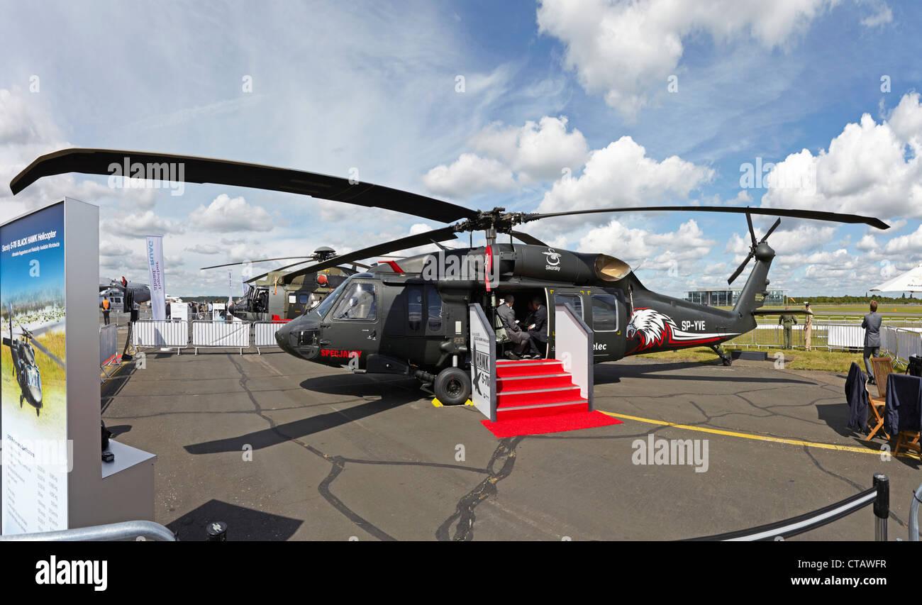 Farnborough International Airshow Sikorsky S 70i Blackhawk - Stock Image