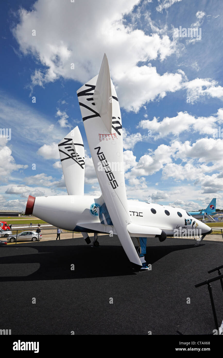 Farnborough International Airshow Virgin Galactic SpaceShipTwo - Stock Image