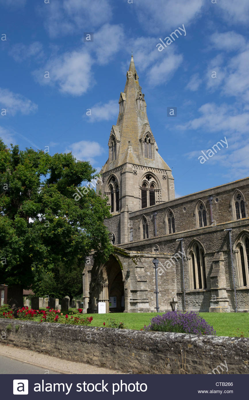 The Church of St Mary the Virgin in Warmington near Oundle, Northamptonshire - Stock Image