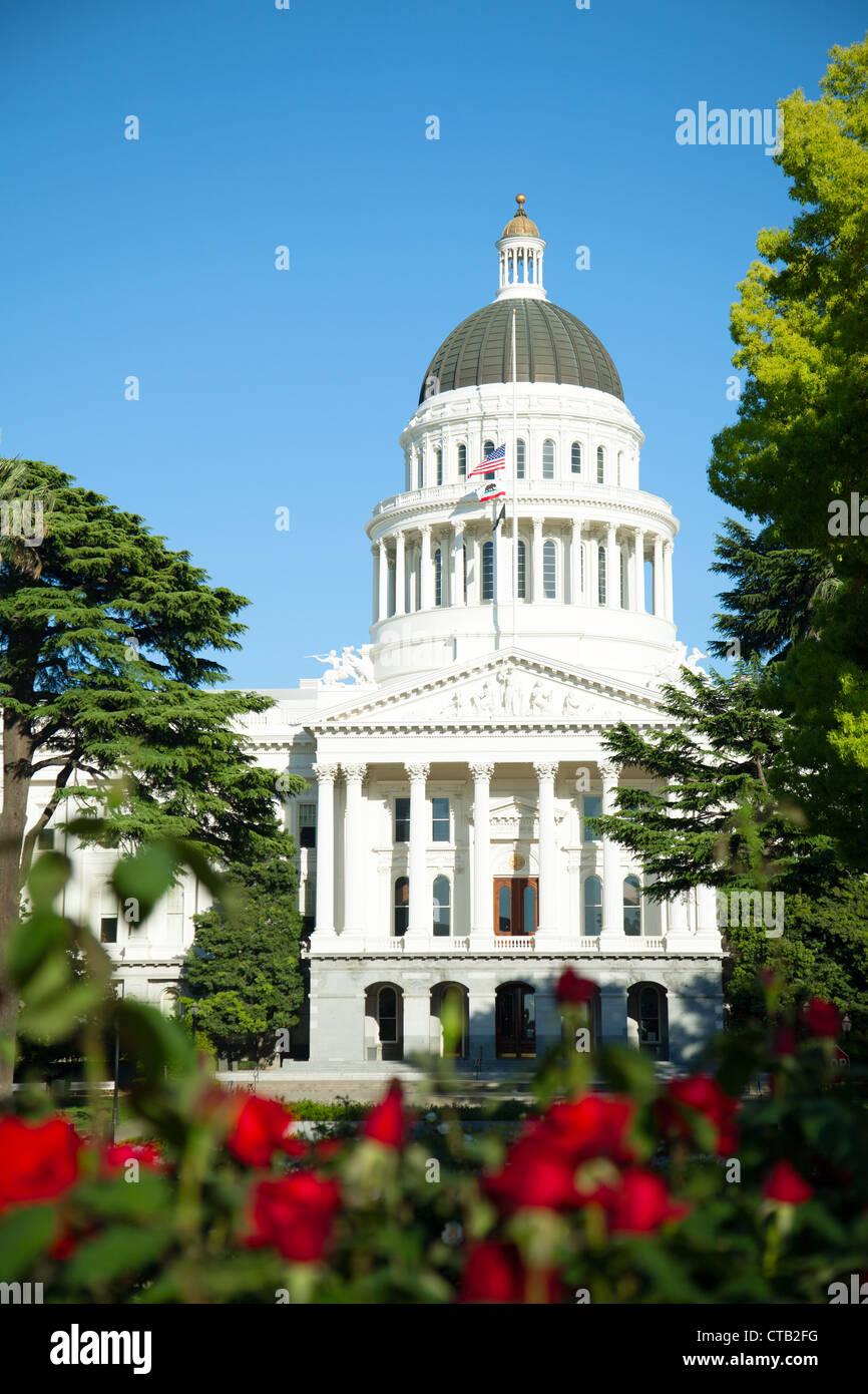 Capitol building in Sacramento, California in the sunny day - Stock Image