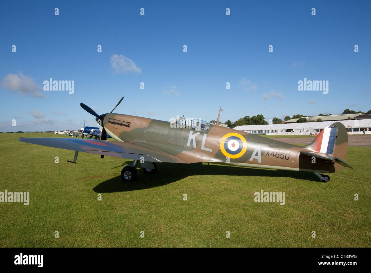 Mk1 Spitfire at the Imperial War Museums Duxford,Cambridgeshire. - Stock Image