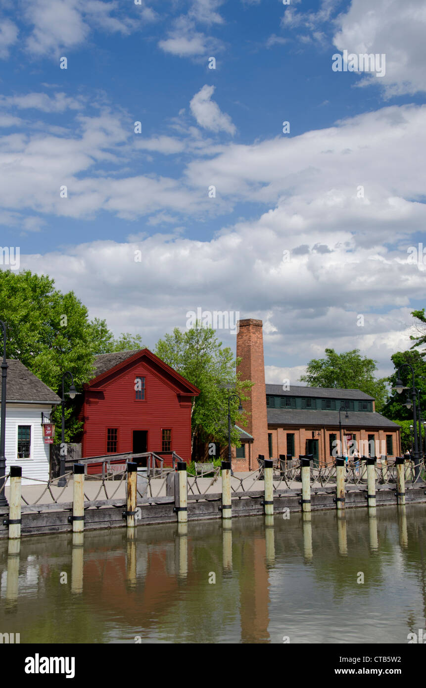 Michigan, Wyandotte. Greenfield Village, home to nearly 100 historical buildings dating back to the 17th century. Stock Photo