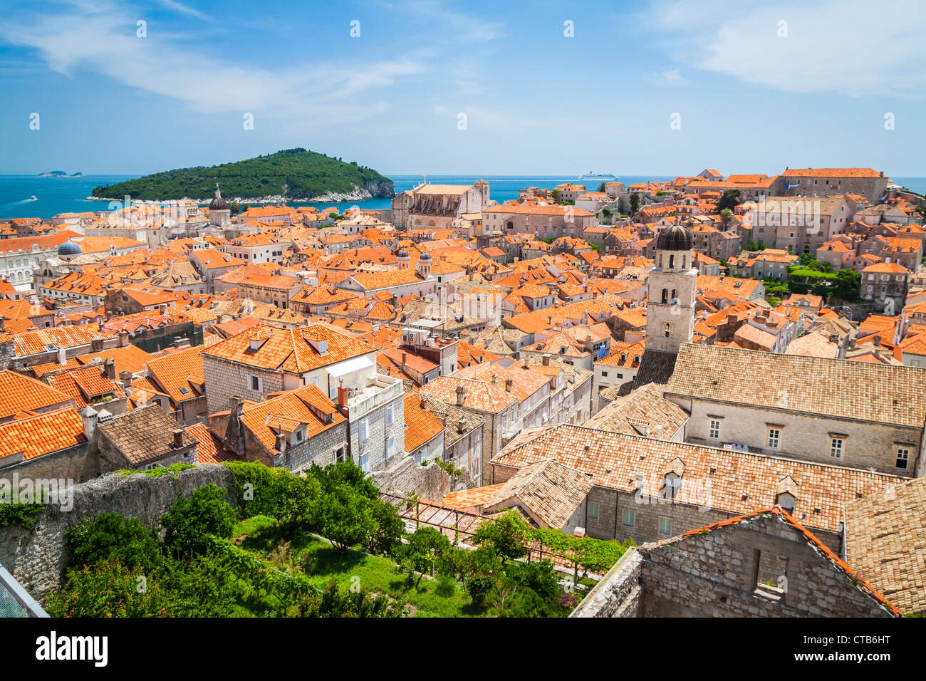 Roofs of Dubrovnik's Old Town - Stock Image